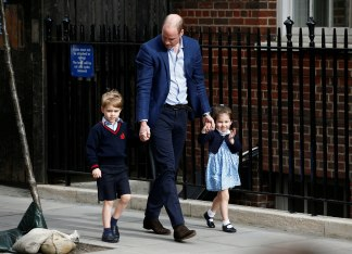Image: Britain's Prince William with his children Prince George and Princess Charlotte