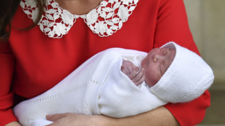 Image: The Duchess of Cambridge shows off her newborn son