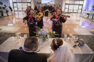 Image: Las Alte?as perform at a wedding in San Antonio