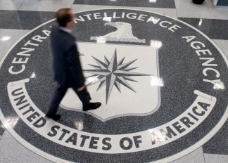 Image: A man crosses the Central Intelligence A