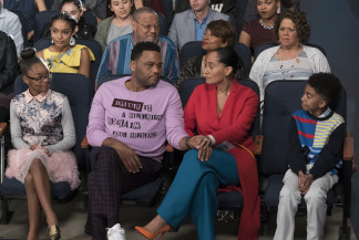 "Image: Anthony Anderson and Tracee Ellis Ross in a scene from ABC's ""black-ish."""