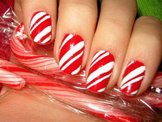 11 holiday nail art ideas youve never seen totalbeauty today candy cane cravings prinsesfo Image collections