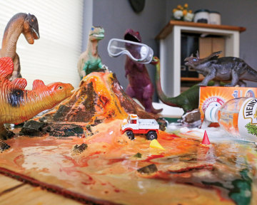 What did the dinosaurs do last night?