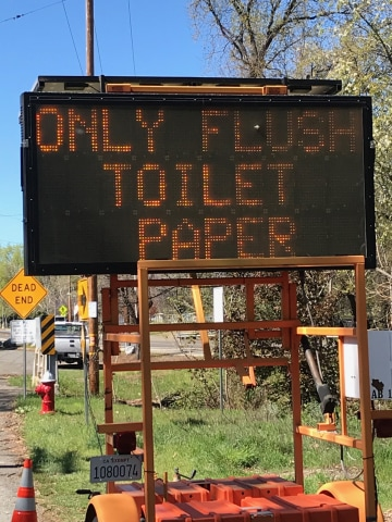 Image: Only flush toilet paper