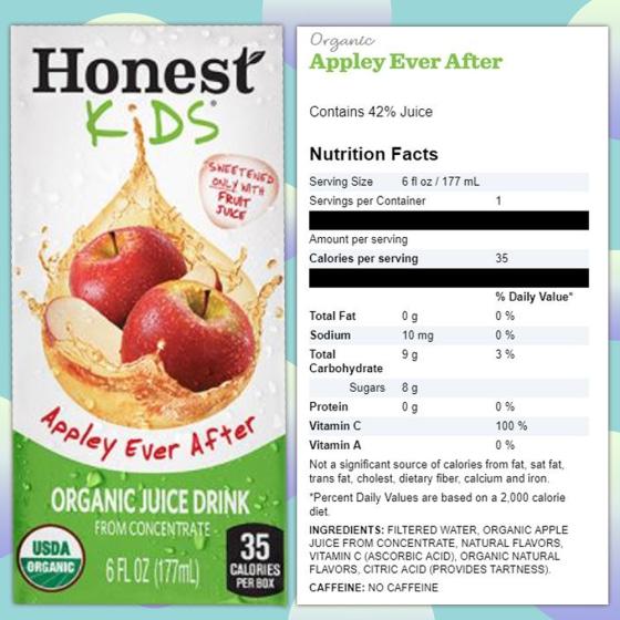 McDonald's new Happy Meal apple juice box