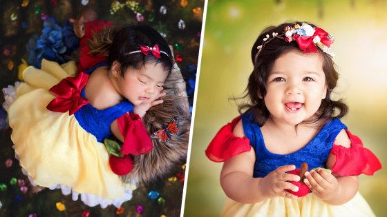 Disney Princess Newborns Are Photographed On First Birthday