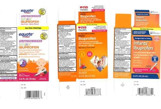 Recall of infant liquid ibuprofen sold at CVS, Walmart expands