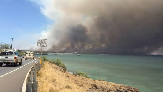 Evacuations ordered as large brush fire burns on Maui