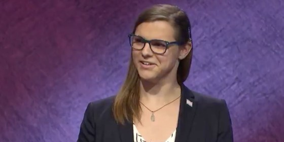 """Kate Freeman made history being the first openly transgender person to win """"Jeopardy""""  Photo: Twitter/Jeopardy"""