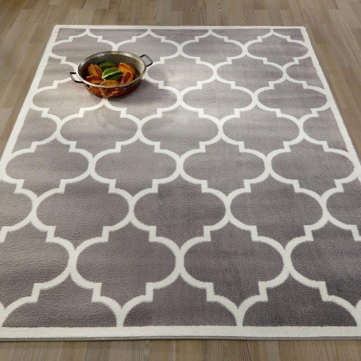 Ottomanson Paterson Collection Contemporary Moroccan Trellis Design Area Rug