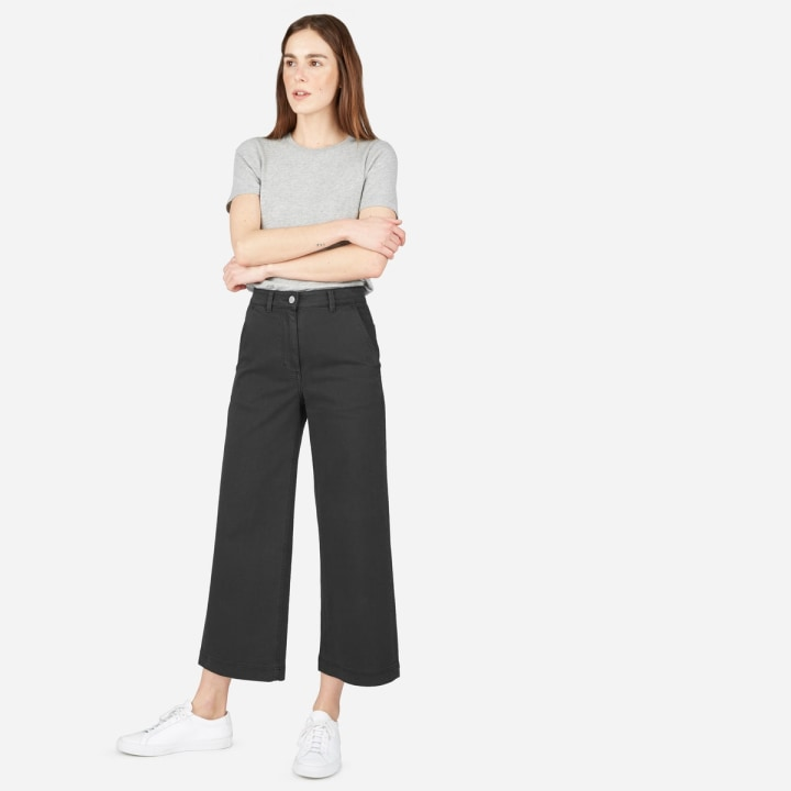 ff94dfca41294 Wide-leg crop pant ·  68. Everlane. Who says cropped black pants ...