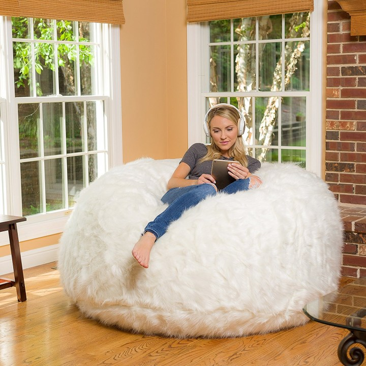 Comfy Sacks 6 Foot Memory Foam Bean Bag Chair