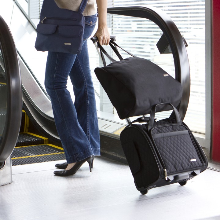 Travelon Wheeled Under Seat Carry On With Backup Bag