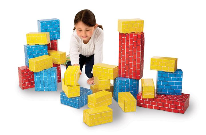 Melissa Doug Extra Thick Cardboard Building Blocks