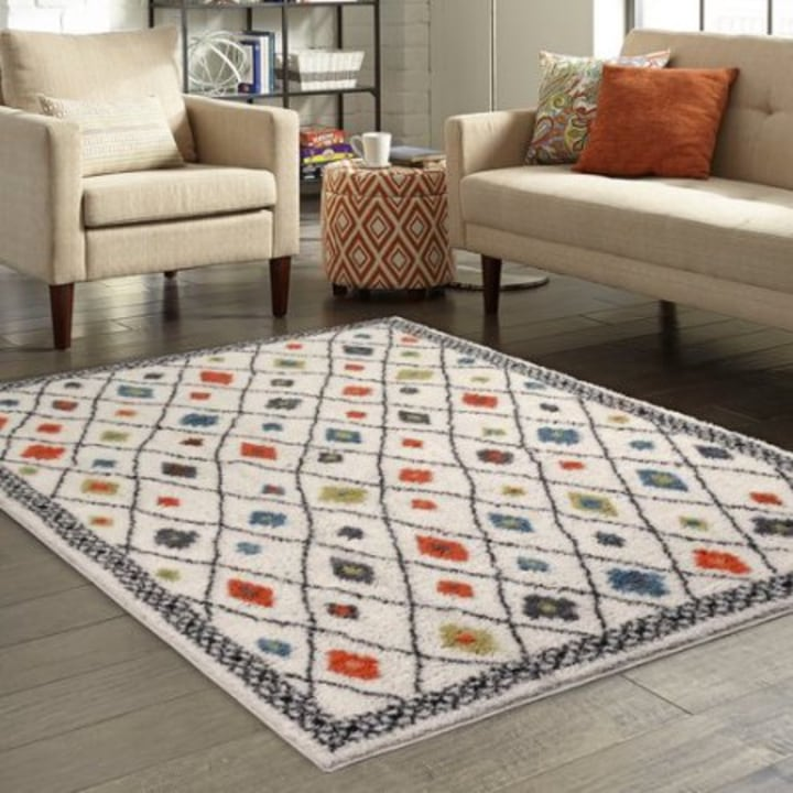 Better Homes And Gardens Bright Global Diamonds Print Area Rug