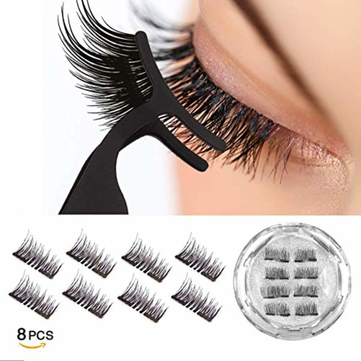 7ff50709ed6 Dual Magnetic Reusable Eyelashes Extensions (8 pc with tweezers)