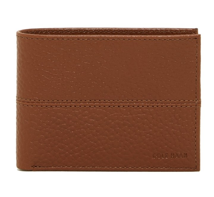 Cole Haan Pebble Leather Slim Billfold Wallet