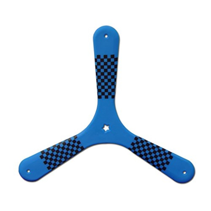 blue speed racer fast catch boomerang