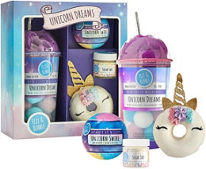 fizz bubble unicorn gift set