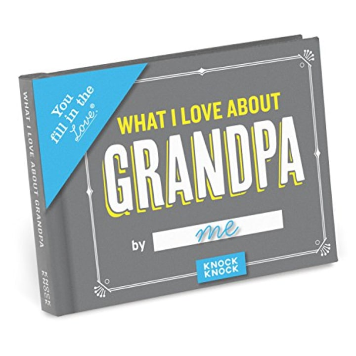Knock What I Love About Grandpa Fill In The Journal