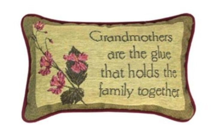 Manual Woodworker Grandmother Printed Throw Pillow