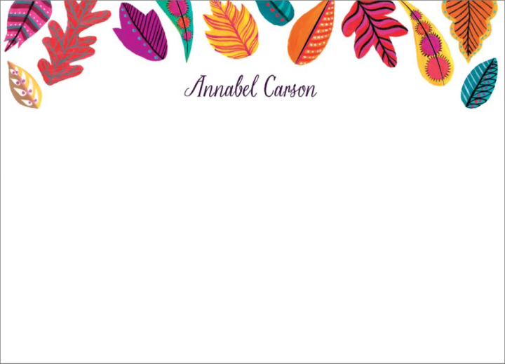 personalized fall leaves stationary
