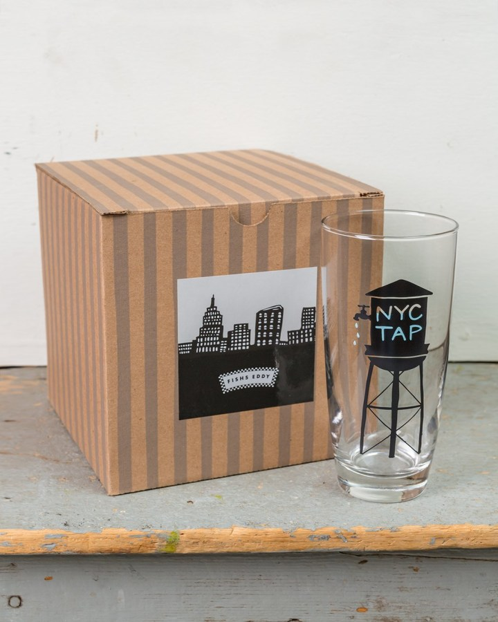 Fishs Eddy NYC Tap Water Glasses Gift Box