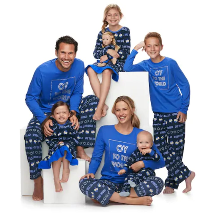 jammies for your families hanukkah matching family pajamas 5 kohls