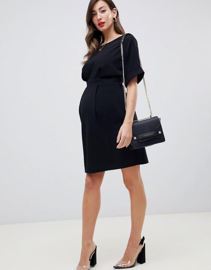 7d8e9b2a121c7 Meghan Markle wears black Asos maternity dress in Australia