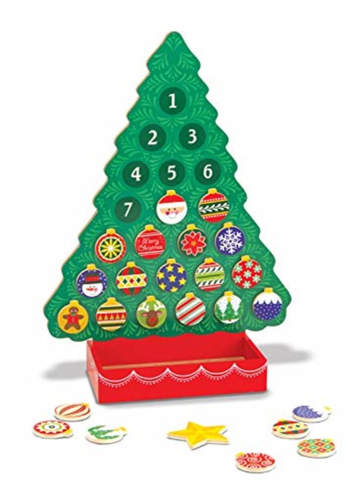 melissa doug countdown to christmas wooden advent calendar
