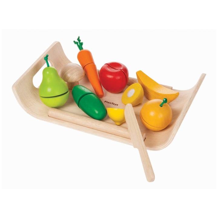 PlanToys Pretend Assorted Fruit Vegetable Play Set