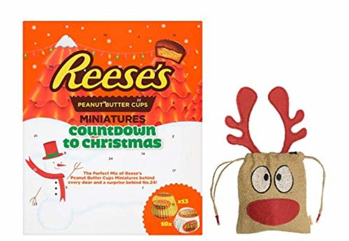 Reese S Peanut Er Cups Miniatures British Advent Calendar With Reindeer Bag