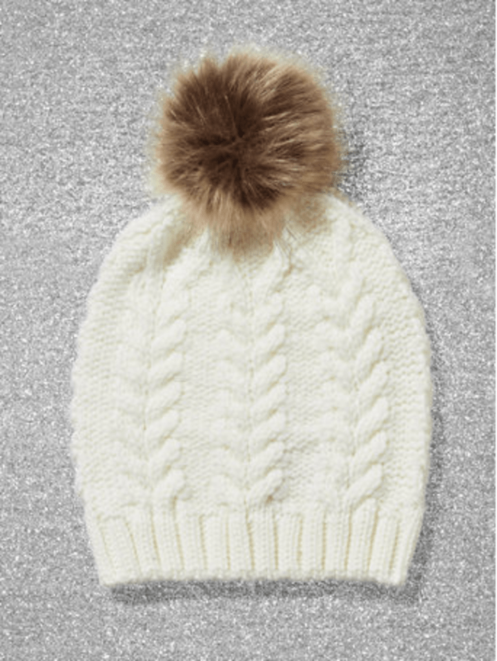 b4095baf438 Faux-Fur Pom-Pom Cable-Knit Hat ·  6.00. New York   Company
