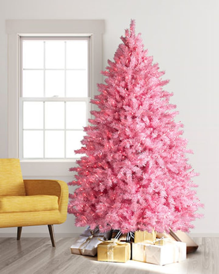 9 Foot Pretty In Pink Christmas Tree
