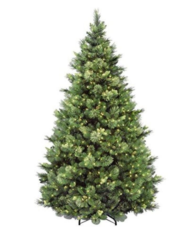 National Tree 6.5 Foot Carolina Pine Tree with Flocked Cones