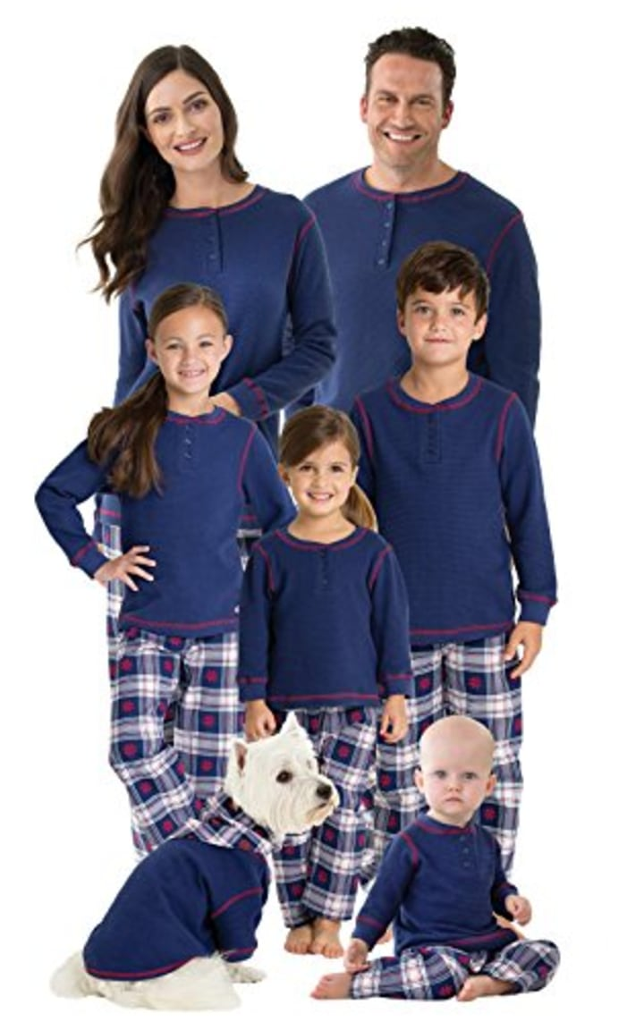 e9fbdd48db Dog pajamas allow owners to curl up with their pets in matching outfits