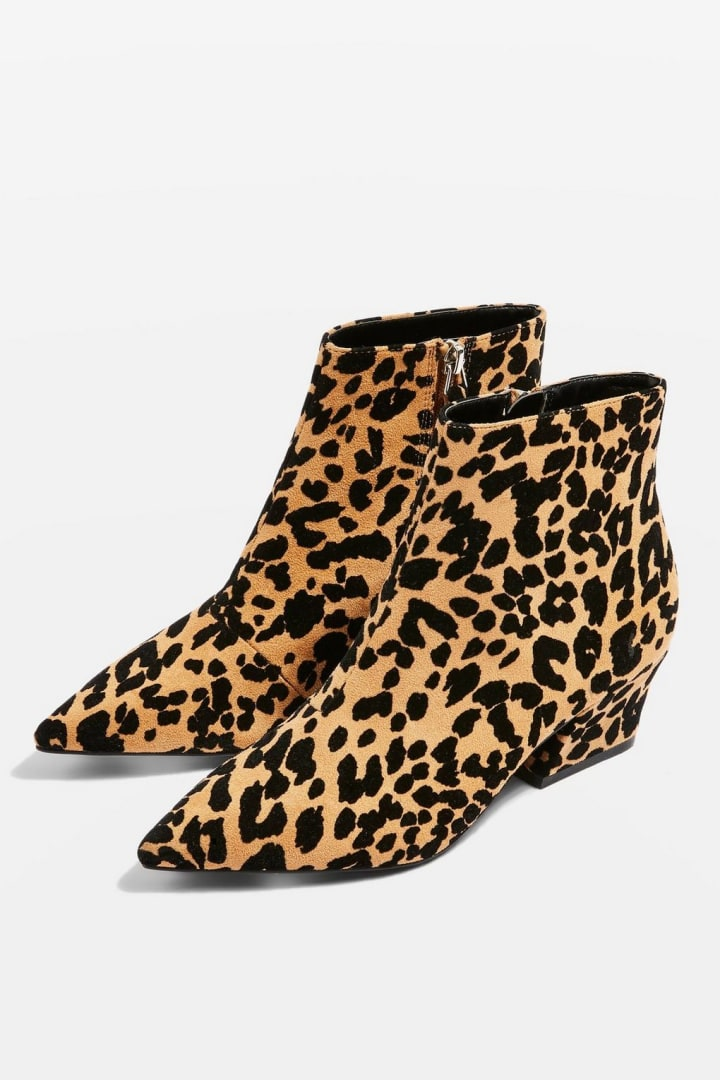 a9ce3fe65 Brink Pointed-Toe Leopard Booties