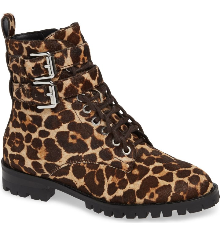 2d09e4cd2a25 Rebecca Minkoff Jaiden Calf Hair Booties · $91.00. Nordstrom. These cool,  calf hair leopard print ankle boots ...