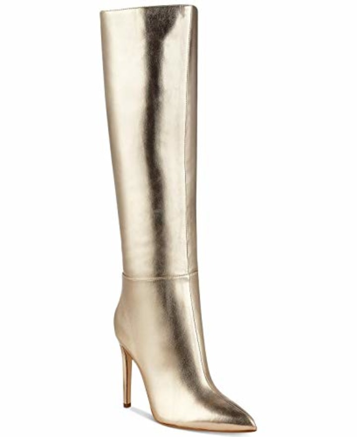 ac87a1aa491 GUESS Womens Lilly4 Closed Toe Knee High Fashion Boots