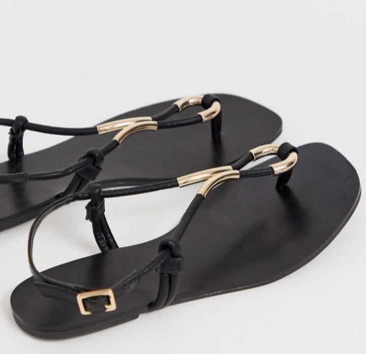 f5489946 For days when you want to look slightly more dressed up without wearing  heels or flats, these sandals are the perfect solution. The gold details  elevate the ...