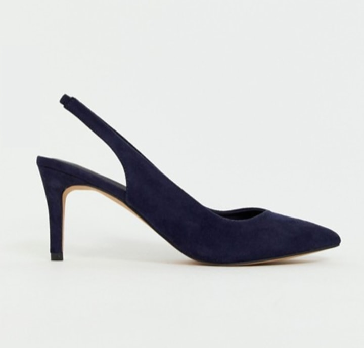6a8edf26236 ASOS Design Sebastian Slingback Mid Heels
