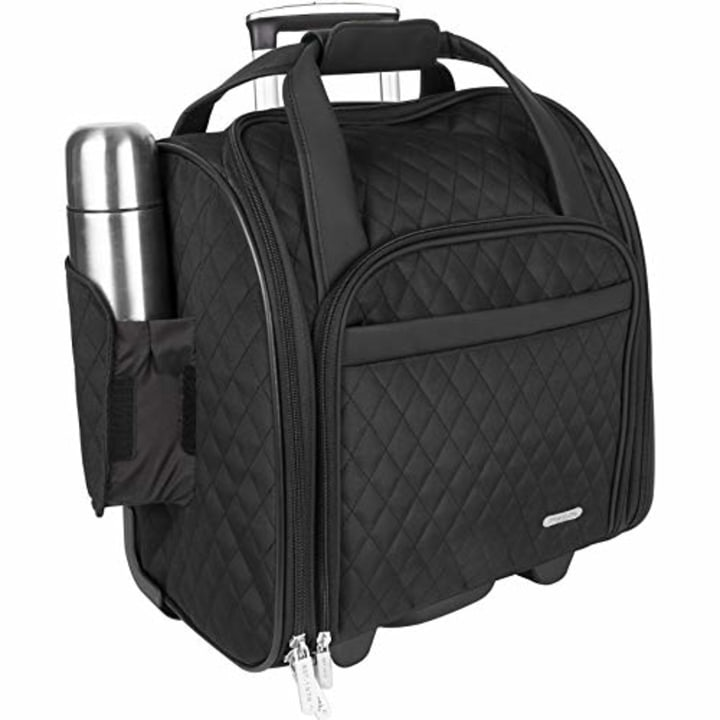 40c7c6133b7 Travelon Wheeled Underseat Carry-On with Back-Up Bag