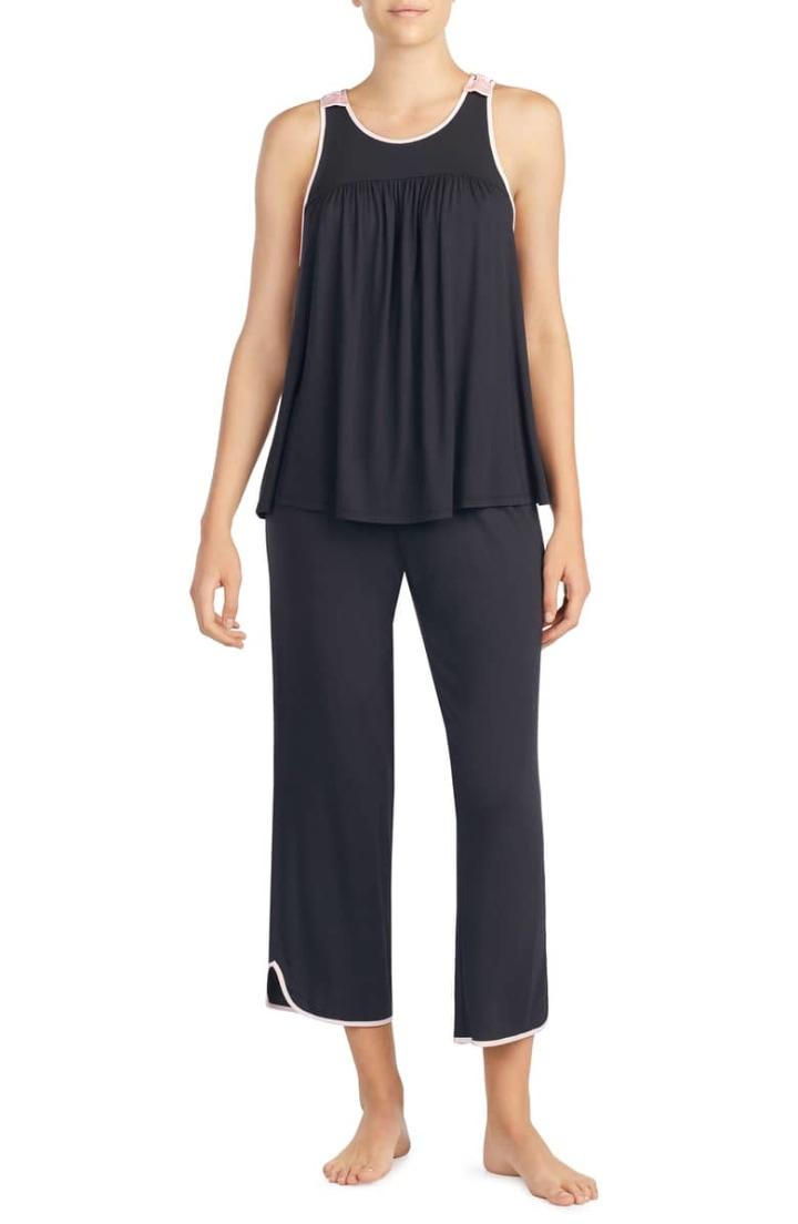 6c1b424b90 Kate Spade New York Crop Jersey Pajamas