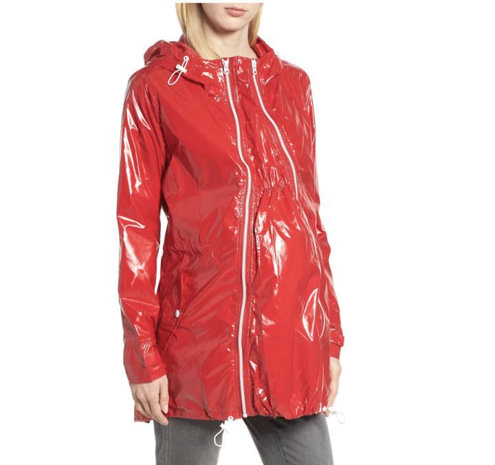 Pink, Medium Women/'s Stylish Long Light Weight Waterproof Rain Coat with Hood