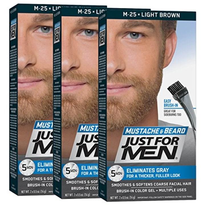 f9edf4eb96b Just for Men Mustache & Beard Brush-In Color Gel