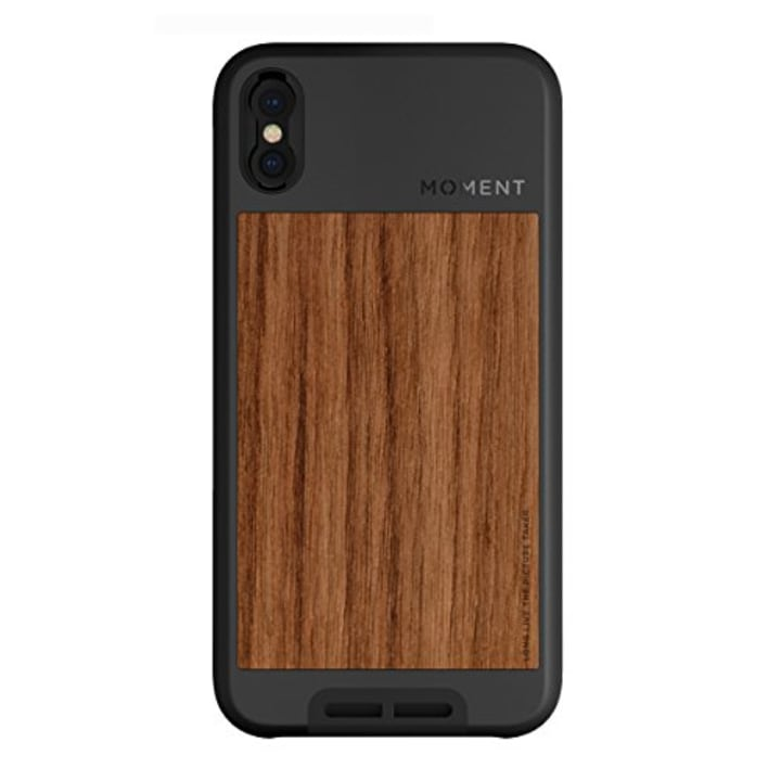 Moment Photo Phone Case In Walnut Wood