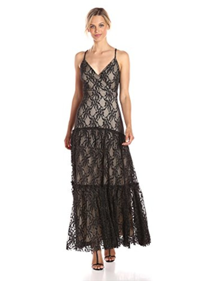 5f35ffd806d Taylor Dresses Women s Lace Mesh Maxi Slip Dress