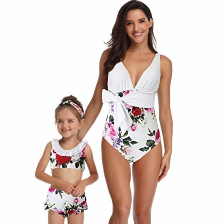 4e072489bb7 Matching mother daughter swimsuits and some for the whole family