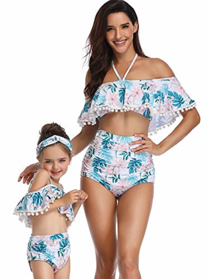d4db98178f68d Matching mother daughter swimsuits and some for the whole family