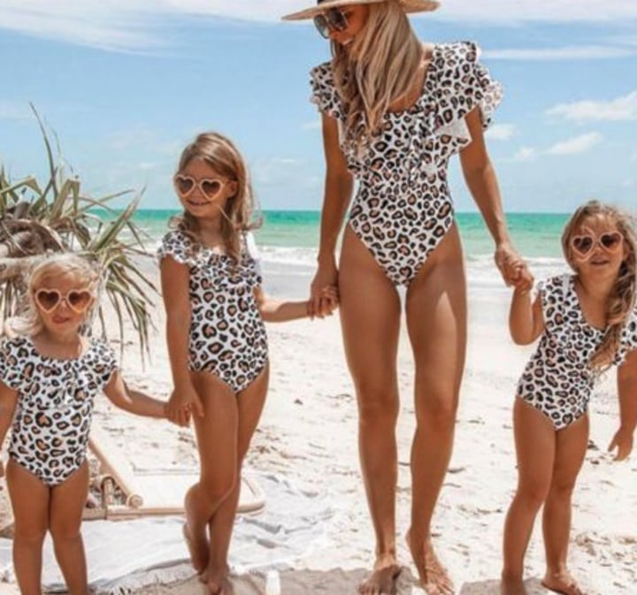 4a970662db2c9 Matching mother daughter swimsuits and some for the whole family
